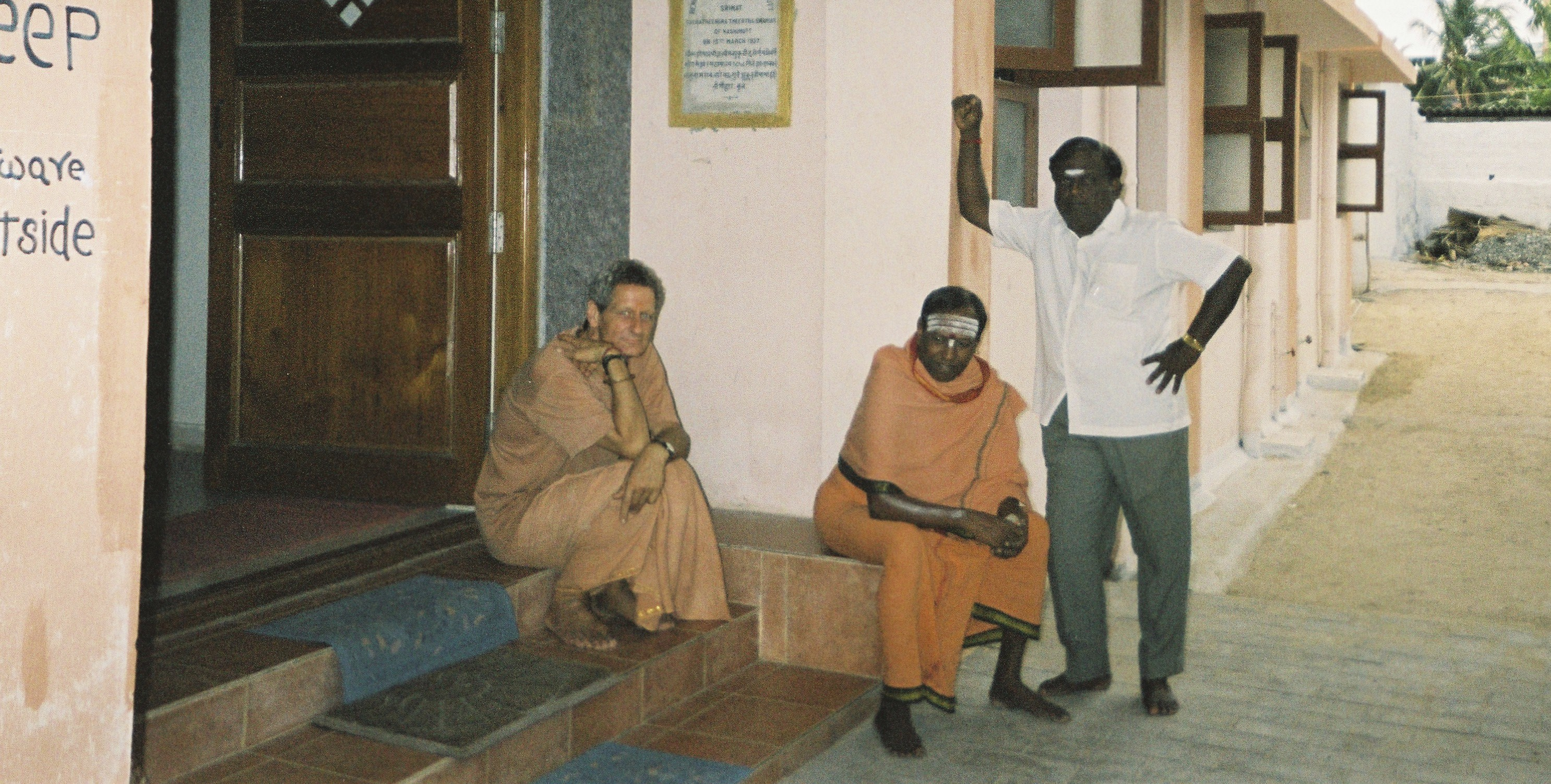 At Patanjali Samadhi with Sri Lasri Sivananda Pulipani Pathira Swamigal dynastic head of the Boghanathar Siddha Parampei which spawned the Patanjali sutras.